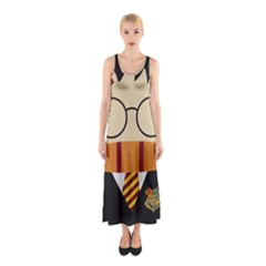 Harry Potter Cartoon Sleeveless Maxi Dress by Samandel