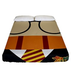 Harry Potter Cartoon Fitted Sheet (queen Size) by Samandel