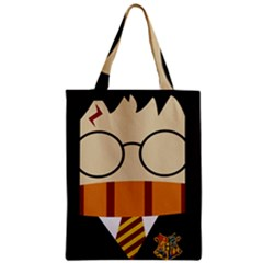 Harry Potter Cartoon Zipper Classic Tote Bag by Samandel