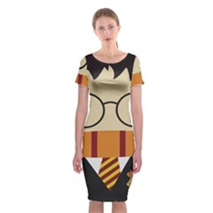 Harry Potter Cartoon Classic Short Sleeve Midi Dress by Samandel