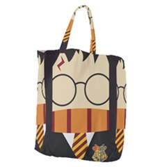 Harry Potter Cartoon Giant Grocery Zipper Tote by Samandel