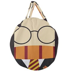 Harry Potter Cartoon Giant Round Zipper Tote by Samandel