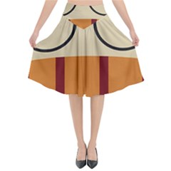 Harry Potter Cartoon Flared Midi Skirt by Samandel