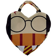 Harry Potter Cartoon Giant Heart Shaped Tote by Samandel