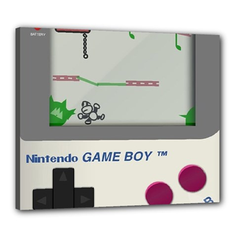 Game Boy White Canvas 24  X 20