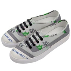 Game Boy White Women s Classic Low Top Sneakers by Samandel