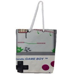 Game Boy White Full Print Rope Handle Tote (large) by Samandel