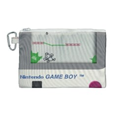 Game Boy White Canvas Cosmetic Bag (large)