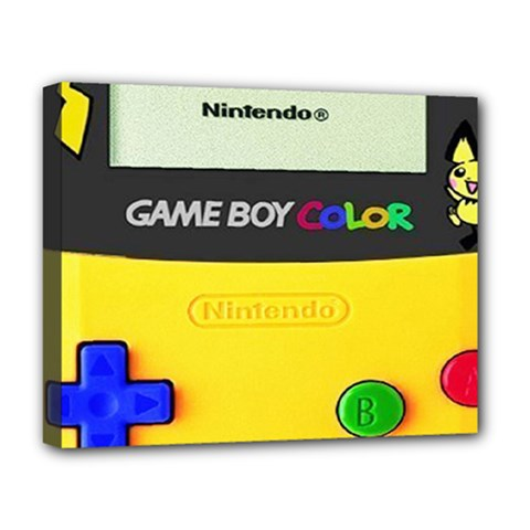 Game Boy Yellow Deluxe Canvas 20  X 16