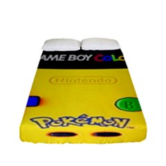 Game Boy Yellow Fitted Sheet (full/ Double Size) by Samandel