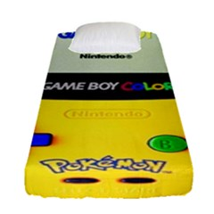 Game Boy Yellow Fitted Sheet (single Size)