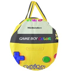 Game Boy Yellow Giant Round Zipper Tote