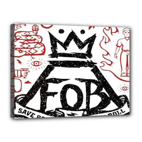 Save Rock And Roll Fob Fall Out Boy Canvas 16  X 12