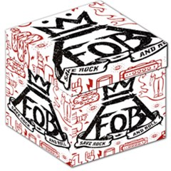 Save Rock And Roll Fob Fall Out Boy Storage Stool 12