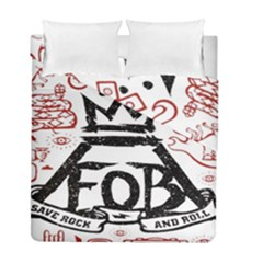 Save Rock And Roll Fob Fall Out Boy Duvet Cover Double Side (full/ Double Size)