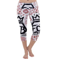 Save Rock And Roll Fob Fall Out Boy Capri Yoga Leggings