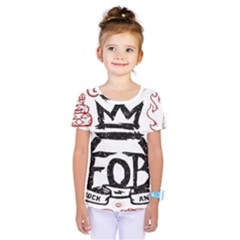 Save Rock And Roll Fob Fall Out Boy Kids  One Piece Tee by Samandel