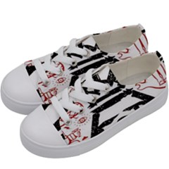 Save Rock And Roll Fob Fall Out Boy Kids  Low Top Canvas Sneakers by Samandel