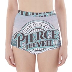 Pierce The Veil San Diego California High Waisted Bikini Bottoms by Samandel