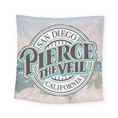 Pierce The Veil San Diego California Square Tapestry (small) by Samandel