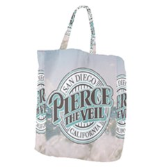 Pierce The Veil San Diego California Giant Grocery Zipper Tote