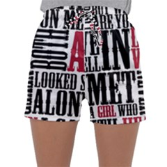 Pierce The Veil Hell Above Lyrics Poster Sleepwear Shorts