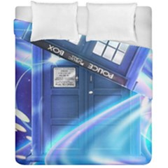 Tardis Space Duvet Cover Double Side (california King Size) by Samandel