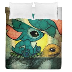 Stich And Turtle Duvet Cover Double Side (queen Size)