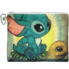 Stich And Turtle Canvas Cosmetic Bag (xxxl)