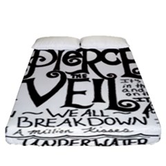 Pierce The Veil Fitted Sheet (queen Size) by Samandel