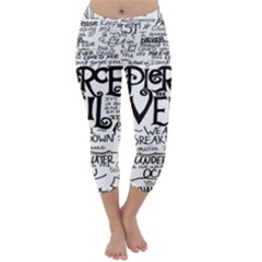 Pierce The Veil Capri Winter Leggings