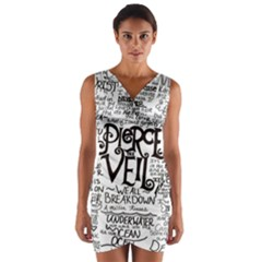 Pierce The Veil Wrap Front Bodycon Dress by Samandel