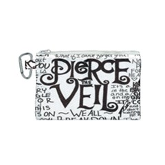 Pierce The Veil Canvas Cosmetic Bag (small) by Samandel