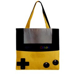 Game Boy Color Yellow Zipper Grocery Tote Bag by Samandel
