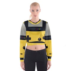 Game Boy Color Yellow Cropped Sweatshirt