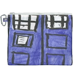 Tardis Painting Canvas Cosmetic Bag (xxxl) by Samandel