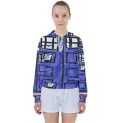 Tardis Painting Women s Tie Up Sweat