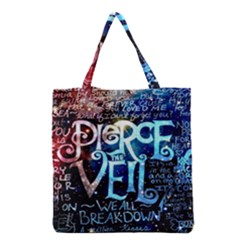 Pierce The Veil Quote Galaxy Nebula Grocery Tote Bag by Samandel