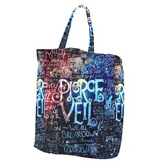 Pierce The Veil Quote Galaxy Nebula Giant Grocery Zipper Tote by Samandel