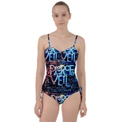 Pierce The Veil Quote Galaxy Nebula Sweetheart Tankini Set by Samandel