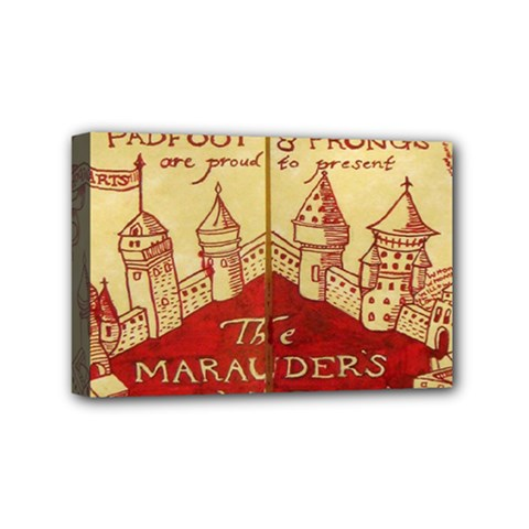 Marauders Map Mini Canvas 6  X 4