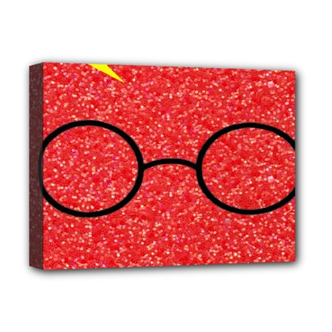 Glasses And Lightning Glitter Deluxe Canvas 16  X 12