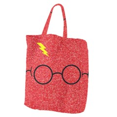 Glasses And Lightning Glitter Giant Grocery Zipper Tote
