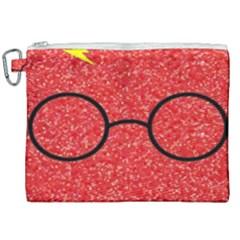 Glasses And Lightning Glitter Canvas Cosmetic Bag (xxl) by Samandel