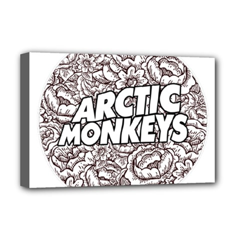 Artic Monkeys Flower Circle Deluxe Canvas 18  X 12   by Samandel