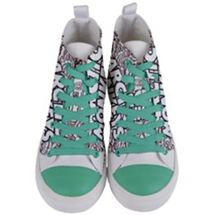 Arctic Monkeys Flower Circle Women s Mid Top Canvas Sneakers