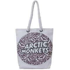 Arctic Monkeys Flower Circle Full Print Rope Handle Tote (small)