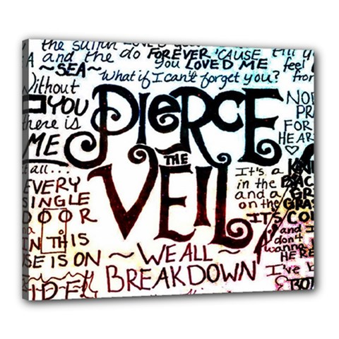 Pierce The Veil Galaxy Canvas 24  X 20  by Samandel