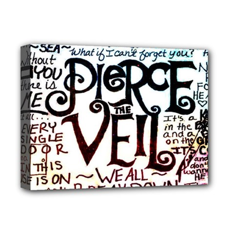 Pierce The Veil Galaxy Deluxe Canvas 16  X 12   by Samandel