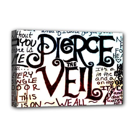 Pierce The Veil Galaxy Deluxe Canvas 18  X 12   by Samandel